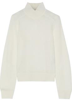 Rag & Bone Woman Logan Ribbed Cashmere Turtleneck Sweater Off-white