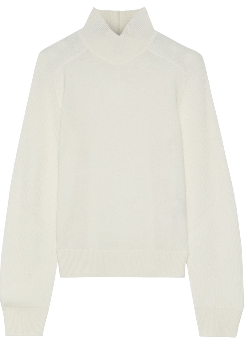 Rag & Bone Woman Logan Ribbed Cashmere Turtleneck Sweater Off-white