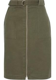 Rag & Bone Woman Lora Belted Cotton-twill Skirt Army Green