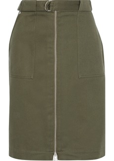 Rag & Bone Woman Lora Belted Cotton-twill Skirt Army Green