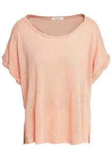 Rag & Bone Woman Lottie Linen-jersey T-shirt Peach