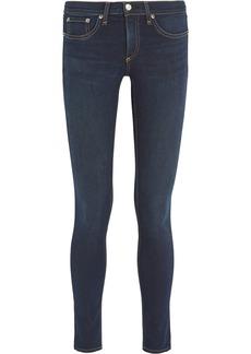 Rag & Bone Woman Low-rise Skinny Jeans Dark Denim