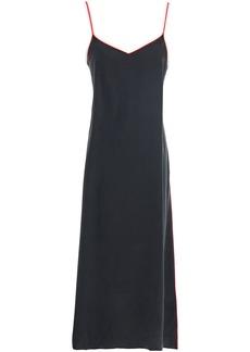Rag & Bone Woman Washed-silk Midi Dress Black