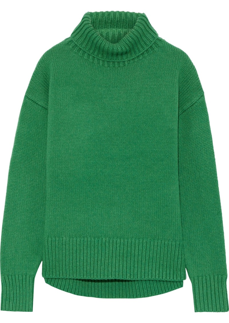 Rag & Bone Woman Lunet Wool Turtleneck Sweater Green