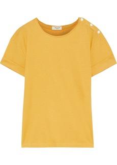 Rag & Bone Woman Mac Ribbed Cotton And Modal-blend T-shirt Yellow