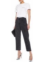 Rag & Bone Woman Magnolia Cropped High-rise Straight-leg Jeans Black