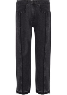 Rag & Bone Woman Magnolia Cropped High-rise Straight-leg Jeans Black