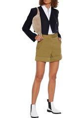 Rag & Bone Woman Mandy Cotton Shorts Army Green