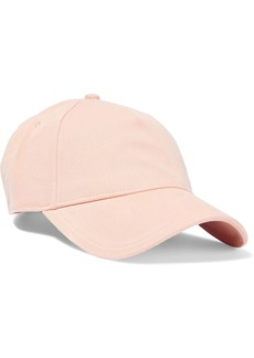Rag & Bone Woman Marilyn Leather-trimmed Cotton-twill Baseball Cap Peach