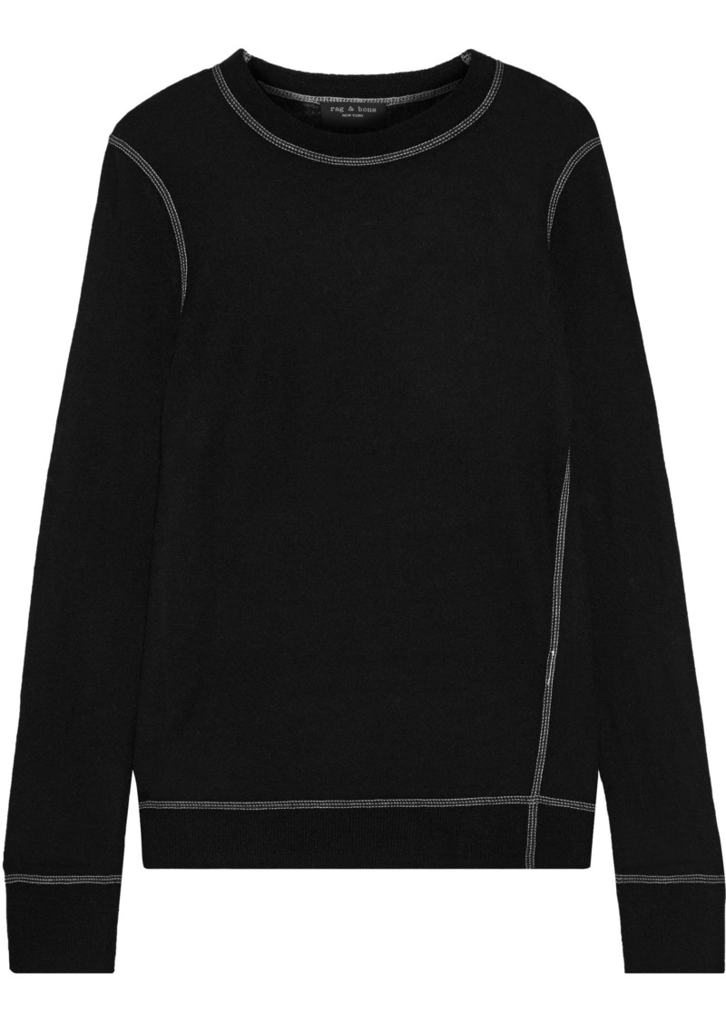 Rag & Bone Woman Marina Cashmere Sweater Black