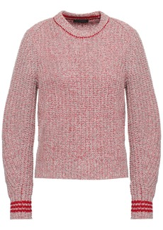 Rag & Bone Woman Cheryl Mélange Ribbed Merino Wool-blend Sweater Red
