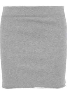 Rag & Bone Woman Marlie Mélange French Cotton-terry Mini Skirt Stone