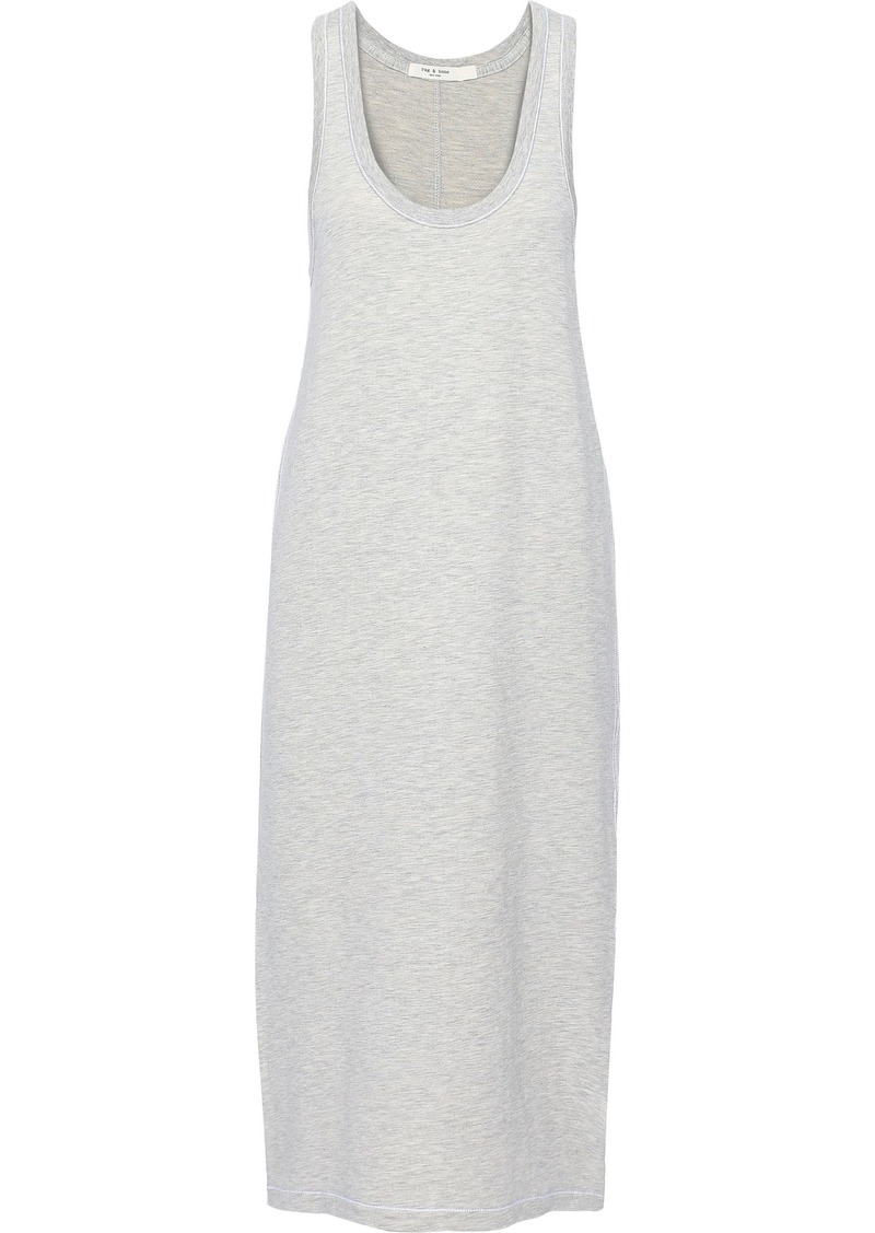 Rag & Bone Woman Marlon Modal And Cotton-blend Midi Dress Gray