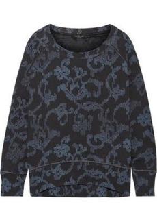 Rag & Bone Woman Max Oversized Printed French Cotton-terry Sweatshirt Indigo