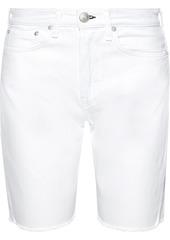 Rag & Bone Woman Maya Frayed Denim Shorts White