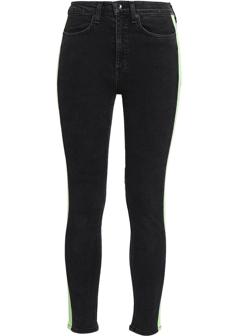 Rag & Bone Woman Mazie High-rise Skinny Jeans Charcoal