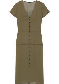 Rag & Bone Woman Mccormick Button-detailed Chiffon Midi Dress Army Green
