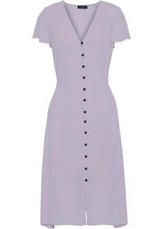 Rag & Bone Woman Mccormick Button-detailed Crepe De Chine Midi Dress Lilac