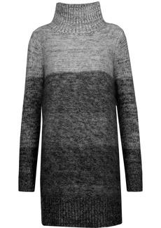 Rag & Bone Woman Melina Dégradé Wool And Silk-blend Turtleneck Mini Dress Gray