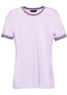 Rag & Bone Woman Brighton Metallic-trimmed Slub Jersey T-shirt Lilac