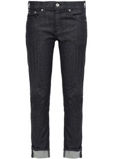 Rag & Bone Woman Mid-rise Slim-leg Jeans Dark Denim