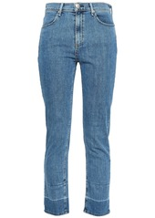 Rag & Bone Woman Mid-rise Slim-leg Jeans Light Denim