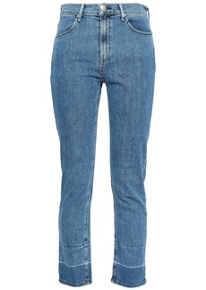 Rag & Bone Woman Mid-rise Slim-leg Jeans Light Denim
