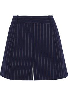 Rag & Bone Woman Millie Pinstriped Cotton-blend Shorts Navy