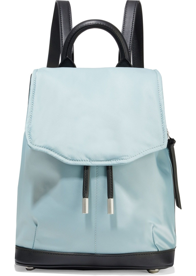 Rag & Bone Woman Pilot Mini Leather-trimmed Shell Backpack Sky Blue