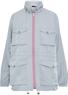 Rag & Bone Woman Minke Crinkled-shell Hooded Jacket Sky Blue