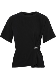 Rag & Bone Woman Mitchell Draped Stretch-jersey T-shirt Black