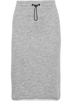 Rag & Bone Woman Mélange French Cotton-terry Skirt Gray