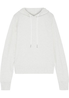 Rag & Bone Woman Mélange French Modal-blend Terry Hoodie Light Gray