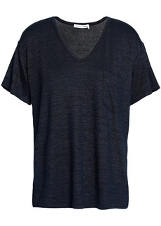 Rag & Bone Woman Mélange Jersey T-shirt Midnight Blue