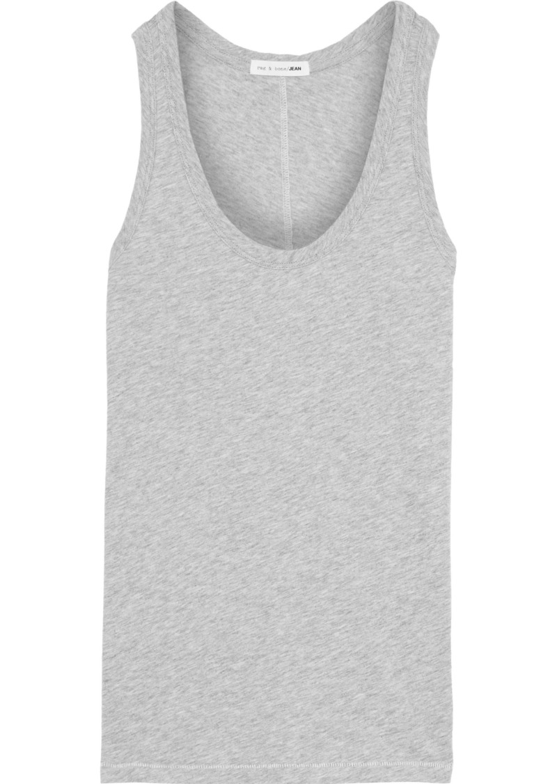 Rag & Bone Woman Mélange Pima Cotton-jersey Tank Gray