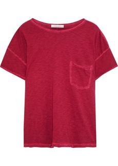 Rag & Bone Woman Mélange Pima Cotton T-shirt Crimson