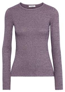 Rag & Bone Woman Mélange Ribbed-knit Top Purple