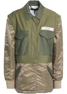 Rag & Bone Woman Modular Convertible Cotton-canvas And Shell Jacket Army Green