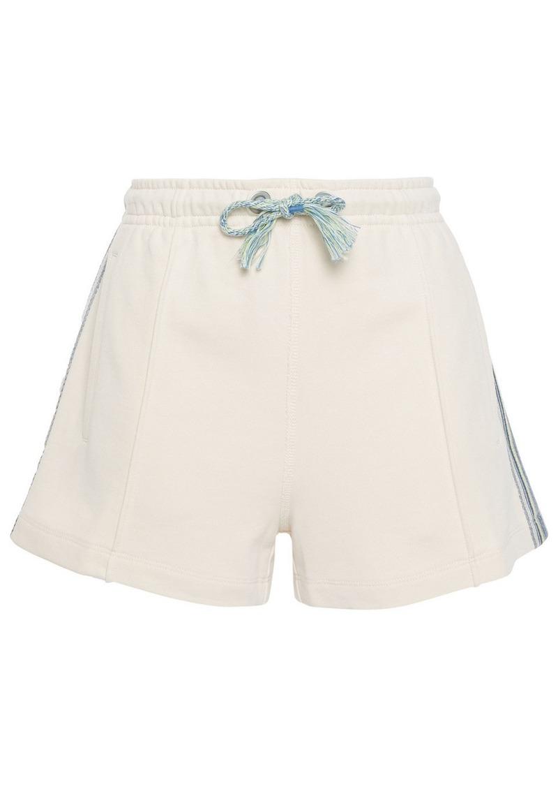 Rag & Bone Woman Molly Striped French Cotton-terry Shorts Cream