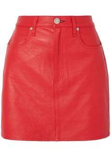 Rag & Bone Woman Moss Leather Mini Skirt Red