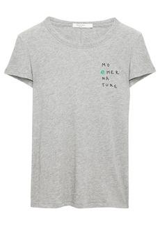 Rag & Bone Woman Mother Nature Printed Slub Pima Cotton-jersey T-shirt Stone