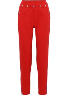 Rag & Bone Woman Naval Button-detailed Crepe Track Pants Red