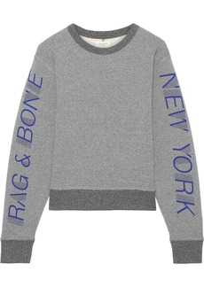 Rag & Bone Woman Printed Cotton-blend Fleece Sweatshirt Gray