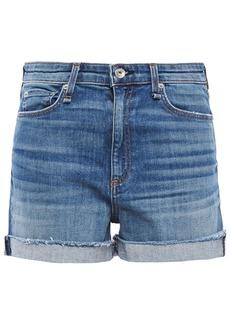 Rag & Bone Woman Nina Distressed Denim Shorts Mid Denim