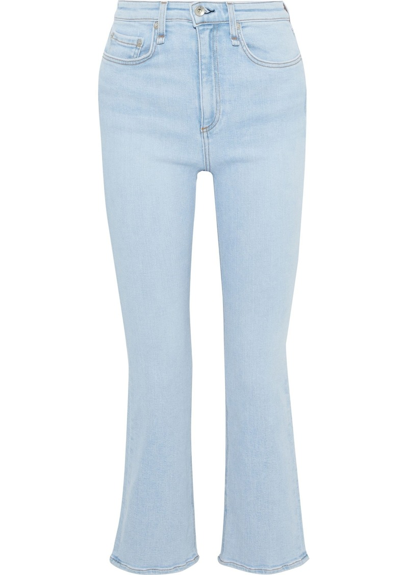 Rag & Bone Woman Nina High-rise Flared Jeans Light Denim