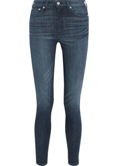 Rag & Bone Woman Nina High-rise Skinny Jeans Dark Denim