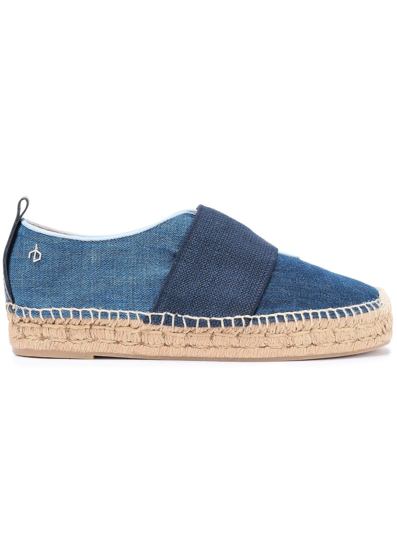 Rag & Bone Woman Nina Strap-detailed Denim Espadrilles Mid Denim