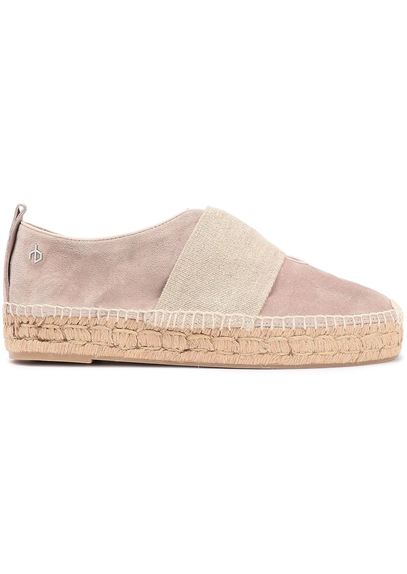 Rag & Bone Woman Nina Strap-detailed Suede Espadrilles Neutral