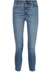 Rag & Bone Woman Nina Zip-detailed Faded High-rise Skinny Jeans Mid Denim