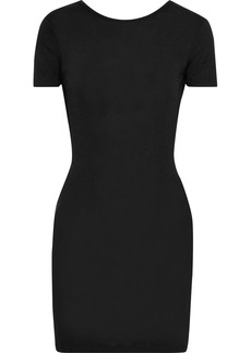 Rag & Bone Woman Open-back Stretch-jersey And Ribbed-knit Mini Dress Black